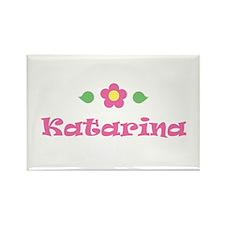 "Pink Daisy - ""Katarina"" Rectangle Magnet"