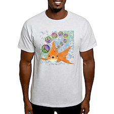 Goldfish and Peace Bubbles T-Shirt