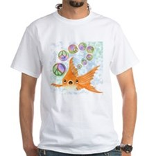 Goldfish and Peace Bubbles T-Shirt