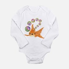 Goldfish and Peace Bubbles Body Suit