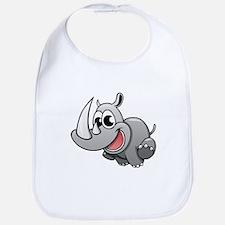 Cartoon Rhinoceros Bib