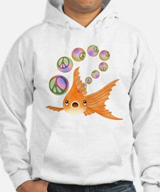 Goldfish and Peace Bubbles Hoodie