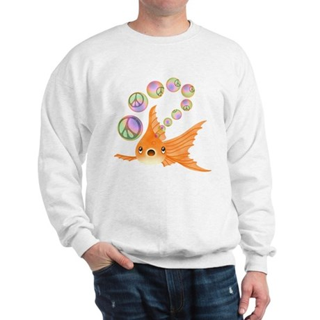 Goldfish and Peace Bubbles Sweatshirt