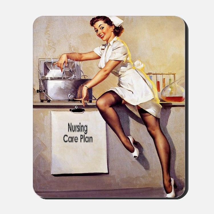 Vintage Pinup Nurse Mousepad