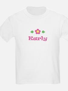 """Pink Daisy - """"Karly"""" Kids T-Shirt"""