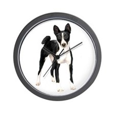 Basenji (black-white) Wall Clock