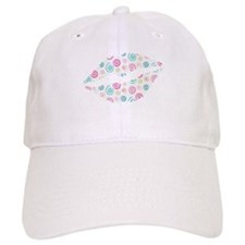 Colorful Swirls Lips Baseball Baseball Cap
