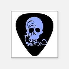"Skull guitar pick Square Sticker 3"" x 3"""
