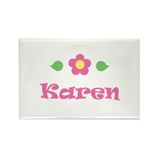 "Pink Daisy - ""Karen"" Rectangle Magnet"