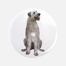 """Irish Wolfhound (sit) 3.5"""" Button"""