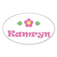 """Pink Daisy - """"Kamryn"""" Oval Decal"""