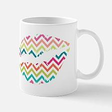 Colorful Zig Zags Lips Mugs