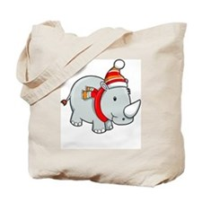 Winter Rhino Tote Bag