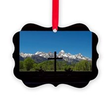 Chapel View of the Grand Tetons Ornament
