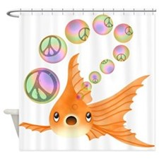 Goldfish Peace Bubbles 2 Shower Curtain