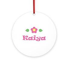 "Pink Daisy - ""Kaiya"" Ornament (Round)"