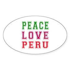 Peace Love Peru Decal