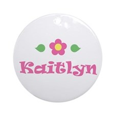 """Pink Daisy - """"Kaitlyn"""" Ornament (Round)"""