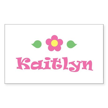 "Pink Daisy - ""Kaitlyn"" Rectangle Sticker"