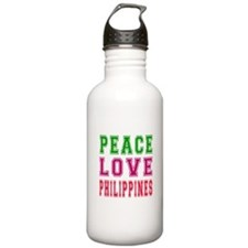Peace Love Philippines Water Bottle