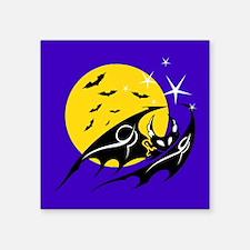 "Bats Flying Square Sticker 3"" x 3"""