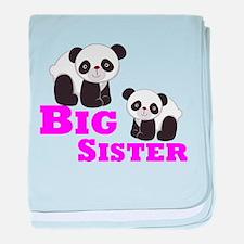 Big Sister Panda baby blanket