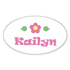 """Pink Daisy - """"Kailyn"""" Oval Decal"""