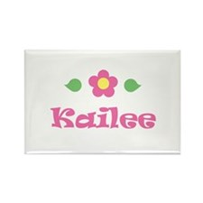 "Pink Daisy - ""Kailee"" Rectangle Magnet"