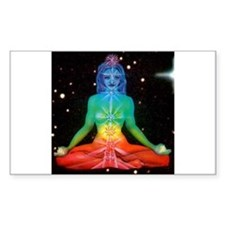 CHAKRAS 3 Rectangle Decal