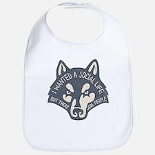 Anti-Social Wolf Bib
