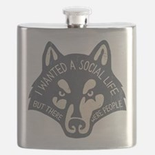 Anti-Social Wolf Flask
