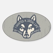 Anti-Social Wolf Decal