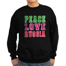 Peace Love Russia Sweatshirt