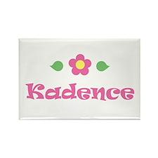 "Pink Daisy - ""Kadence"" Rectangle Magnet"