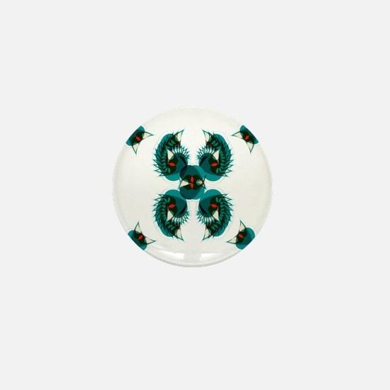 Illusion Batterfly Mini Button