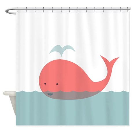Cute Whale Shower Curtain By BestShowerCurtains