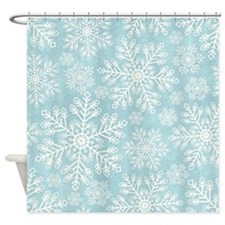 Winter Snowflakes Shower Curtain