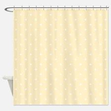 Yellow Polka Dots Shower Curtain