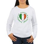 Tricolour Heart Women's Long Sleeve T-Shirt