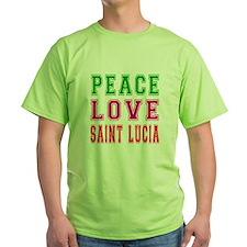Peace Love Saint Lucia T-Shirt
