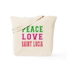 Peace Love Saint Lucia Tote Bag