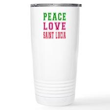 Peace Love Saint Lucia Travel Mug