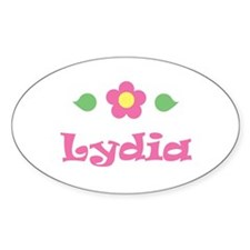 """Pink Daisy - """"Lydia"""" Oval Decal"""