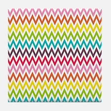 Chevron Rainbow Tile Coaster