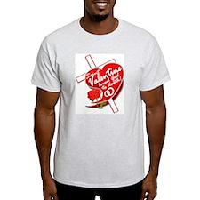 Valentine's Day Ash Grey T-Shirt