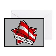"""Austria Star Flag"" Greeting Cards (Pk of 10)"