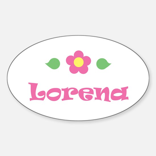 "Pink Daisy - ""Lorena"" Oval Decal"
