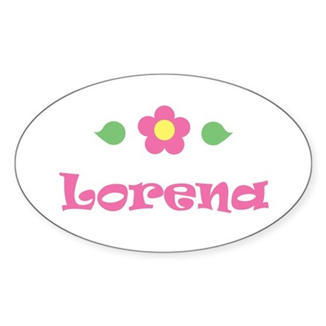 "Pink Daisy - ""Lorena"" Oval Sticker"