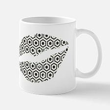 Black Hexagon Honeycomb Lips Mugs