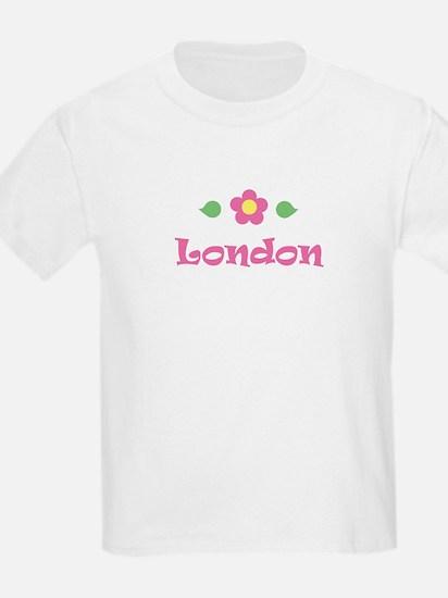 """Pink Daisy - """"London"""" Kids T-Shirt"""